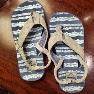 Reef flip flops with heel strap